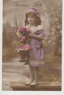 ENFANTS 1407 : Bonne Fête , Fillette Panier De Fleurs ; édit. Novella N° 612 - Andere