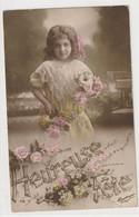 ENFANTS 1409 : Heureuse Fête , Fillette Avec Une Lettre ; édit. M Boulanger N° 716 - Andere