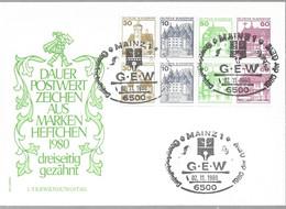1980 Allem. Fed. Deutschland  Mi H Blatt  28  FDC   Burgen Und Schlösser - FDC: Sobres