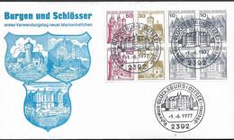 1977 Allem. Fed. Deutschland  Mi H Blatt  26  FDC   Burgen Und Schlösser - FDC: Sobres