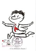 Carte Maximum YT AA 361 Chouette Des Nouvelles ! Sourire Avec LE PETIT NICOLAS 1er Jour 19 09 2009 TBE Paris (75) SEMPé - 2000-09
