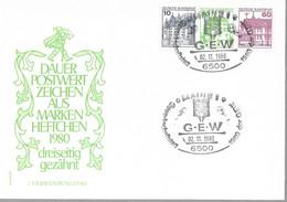 1980 Allem. Fed. Deutschland  Mi W 71 FDC Oben Geschnitten  Burgen Und Schlösser - FDC: Sobres