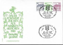 1980Allem. Fed. Deutschland  Mi W 72 FDC Unten  Geschnitten  Burgen Und Schlösser - FDC: Sobres