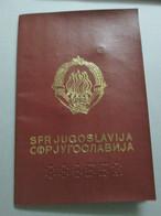 PASSPORT. PASSAPORTO, PASSEPORT, YUGOSLAVIA 1990, VISAS GRECE - Historical Documents