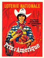 BL 303 / BILLETS LOTERIE NATIONALE   DEPLIANTS    PRIX D'AMERIQUE      TIRAGE  28 JANVIER   1967 - Loterijbiljetten