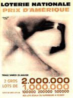 BL 304 / BILLETS LOTERIE NATIONALE   DEPLIANTS    PRIX D'AMERIQUE      TIRAGE  29 JANVIER   1966 - Loterijbiljetten