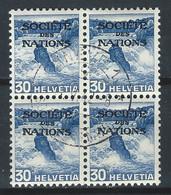 WW-/-662-- . Bloc De 4 Du N° 102a, OBL., COTE 10.00 €, PAPIER GRILLE ,  VOIR IMAGES POUR DETAILS - Officials
