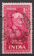 India Used Stamp With Perfin - Gebraucht