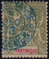 ✔️ Martinique 1892 - Mouchon Groupé - Yv. 43 (o) - €26 - Gebraucht