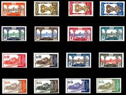 * N°33/48, Série De 1910, Les 16 Valeurs SUP. R. (certificat)  Qualité: *  Cote: 1344 Euros - Unused Stamps