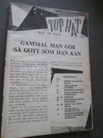 "SWEDISH EROTIC PORNO MAGAZINE ""TOP HAT"" 1972, BLACK WHITE,  No 21, MISSING COVERS - Scandinavian Languages"