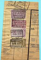 Spoorwegfragment, Afst. ARDOOIE-KOOLSKAMP 15/09/1942 + Stempel GEWICHT BEVONDEN - 1942-1951