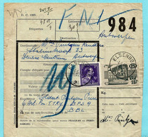 N°693 + TR 326 Spoorwegdoc, Afst.ELSENBORN 04/05/1951 / CANTONS DE L'EST - OOSTKANTONS - 1942-1951