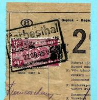 TR 255 Op Spoorwegfragment, Afst. HERBESTHAL 22/08/1945 + Treinnummer 5685 In Stempel / CANTONS DE L'EST - OOSTKANTONS - 1942-1951
