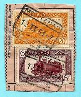 Spoorwegfragment, Afst. MONTENAU 12/02/1951 / CANTONS DE L'EST - OOSTKANTONS - 1942-1951