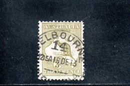AUSTRALIE 1912-9 O FILIGRANE A I° - Used Stamps
