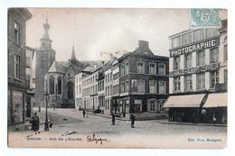 (Belgique) Hainaut 091, Binche, Fern Bourgeois, Rue De L'Eglise, Dos Non Divisé - Binche