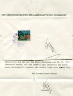 F0772 - Originalautogramm WILLI BECKER (ehemaliger Bürgermeister Von DÜSSELDORF) - Mit Begleitbrief - Autografi