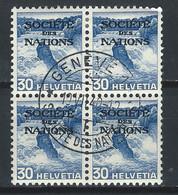 XX-/-164-YVERT- 4 X  N° 102a, ZUMSTEIN, SERVICE SDN N° 53z, OBL., COTE 10.00 €, PAPIER GRILLE, VOIR IMAGES POUR DETAILS - Officials