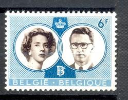 Neuf Légères Traces De Charnières - BELGIQUE BELGIE  - 1960 Y&T 1171 - LC Au Verso Du Timbre - Baudouin Fabiola - (1) - Nuovi