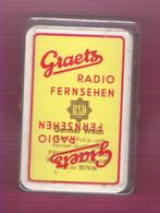 Jeu De 32 Cartes Publicitaires Avec Boitier Werbekarten-Spiel Radio Fernehen GRAETZ Germar Weiss Frankfurt Main - 32 Cards
