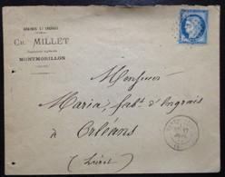 FRANCE, Circulated Cover From Montmorillon To Orléans, 1875 (?) - 1863-1870 Napoléon III Con Laureles