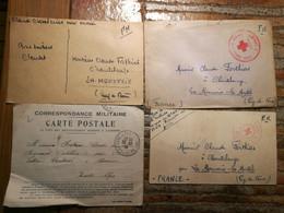 Lot 7 Correspondances Prisonniers Ww1  + 1 Ww2 - Guerra Del 1939-45