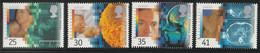 M 540) GB 1994 Mi 1535-38 **: EUROPA: Erfindungen Gesundheit Ultraschall Mikroskopie Kernspin-Tomograph - Unused Stamps