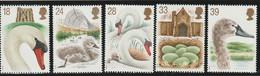 M 596) GB 1993 Mi# 1426-30 **: Schwanenzucht In Abbotsbury, Schwan, Entenfalle - Unused Stamps