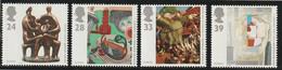 M 601) GB 1993 Mi# 1451-54 **: Zeitgenössische Kunst, Linolschnitt, Skulptur Von Henry Moore, Gemälde - Unused Stamps