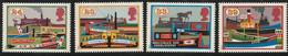 M 603) GB 1993 Mi# 1459-62 **: Wasserstraßen, 200. Jahrestag Kanal-Gesetz, Schiffe Schleusen - Unused Stamps