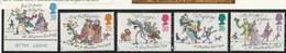 M 606) GB 1993 Mi# 1483-87 **: Weihnachten: Figuren Aus 'Ein Weihnachtslied In Prosa' Von Charles Dickens - Unused Stamps