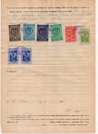 1956 YUGOSLAVIA, SLOVENIA, 4 OLO POSTOJNA MUNICIPALITY REVENUE STAMPS + 4 YU STATE REVENUE - Slovenia
