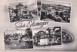 SALSOMAGGIORE TERME - VEDUTINE MULTIVUES - TERME BERZIERI E POGGIO DIANA - LAGHETTO E PANORAMA - VIAGGIATA 1961 - Otras Ciudades
