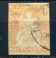 1854 -Suisse : Mi 16  Obliteré Légerement - Gestempelt - Gebruikt