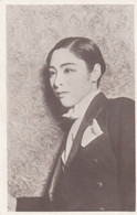 Unidentified Japanese Actress In Tuxedo Dressed As Man? C1920s/30s Vintage Postcard - Actors