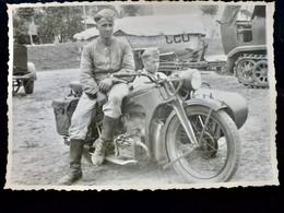 GERMAN Photo WW2 WWII ARCHIVE : MOTO Side Car ** ZUNDAPP ** WEHRMACHT - Krieg, Militär