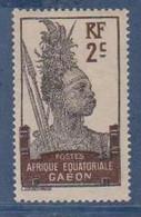 GABON       N°  YVERT  50   NEUF AVEC CHARNIERES      (CHAR   01/41 ) - Unused Stamps