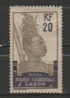 GABON       N°  YVERT  55  NEUF AVEC CHARNIERES      (CHAR   01/41 ) - Unused Stamps