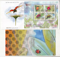 MS FDC + Info 2017, Ladybird Beetle, Insect, Great Help For Farmers & Gardeners As Pest Control, Agriculture / Plant, - Sonstige