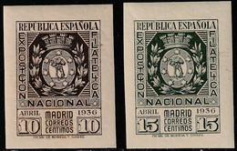 1938. * Edifil: 727/28. EXPOSICION FILATELICA DE MADRID - 1931-50 Ongebruikt