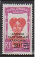 GABON       N°  YVERT  115   NEUF AVEC CHARNIERES      (CHAR   01/44 ) - Unused Stamps