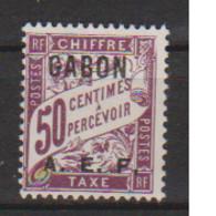 GABON       N°  YVERT  TAXE  7   NEUF AVEC CHARNIERES      (CHAR   01/44 ) - Unused Stamps
