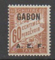 GABON       N°  YVERT  TAXE  8   NEUF AVEC CHARNIERES      (CHAR   01/44 ) - Unused Stamps