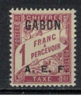 GABON       N°  YVERT  TAXE  9   NEUF AVEC CHARNIERES      (CHAR   01/44 ) - Unused Stamps