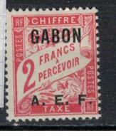 GABON       N°  YVERT  TAXE  10   NEUF AVEC CHARNIERES      (CHAR   01/44 ) - Unused Stamps