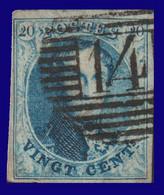 COB N° 11 - 4 Belles Marges - P 17  Barres - 14 (BEAUMONT) - 1858-1862 Medallions (9/12)