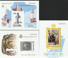 1995. Edifil: 34/36 P. Pruebas De Lujo. DIA DEL SELLO, EXFILNA '95, ESQUIVEL - 1991-00 Ongebruikt