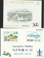 1991. Edifil: 23/24 P. Pruebas De Lujo. AÑO COMPLETO - 1991-00 Ongebruikt