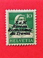"""Suisse Switzerland  - ZU 153 & 174 Surchargé """"S.D.N Bureau Internationnal Du Travail"""" MH * - Probably Forged Overprint - Officials"""
